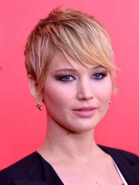jennifer lawrence hair colors for two toned pixie 20 best jennifer lawrence with short hair short