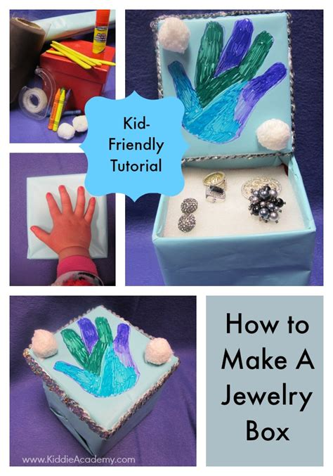 how to make your own jewelry box upcycle a jewelry box kiddie academy