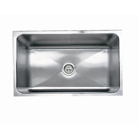 Stainless Undermount Kitchen Sinks Shop Blanco Magnum Stainless Steel Single Basin Undermount Kitchen Sink At Lowes