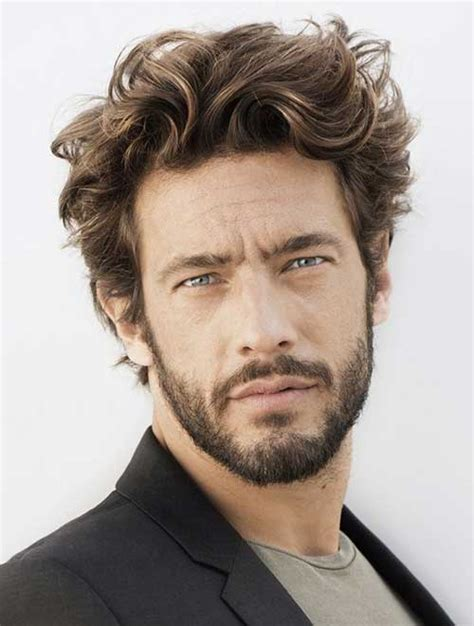 mens cuts wavy hair make face look thinner 16 haircuts for wavy hair men mens hairstyles 2018
