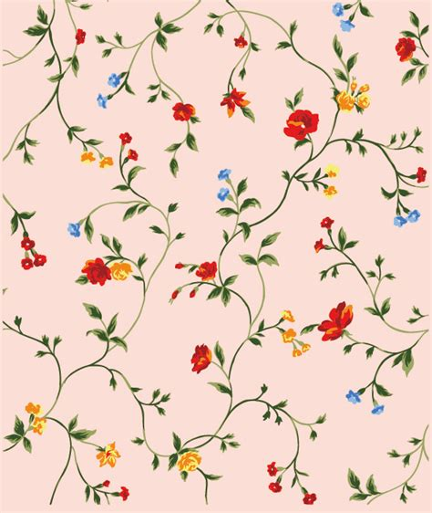 pattern web flower red yellow and blue small flowers vector background free