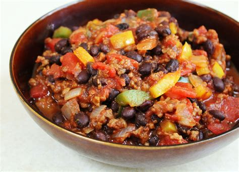 chili recipe crock pot easy beef with beans vegetarian photos pics images chili bean recipe