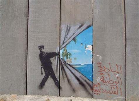 banksy en palestine art politique art banksy  street