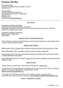 Cv Resume Exle by Writing Your Cv