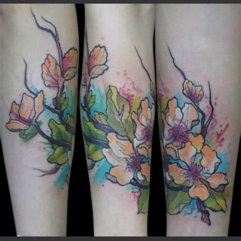 aqua flower tattoos and photo scary aqua owl bird design with tree photos