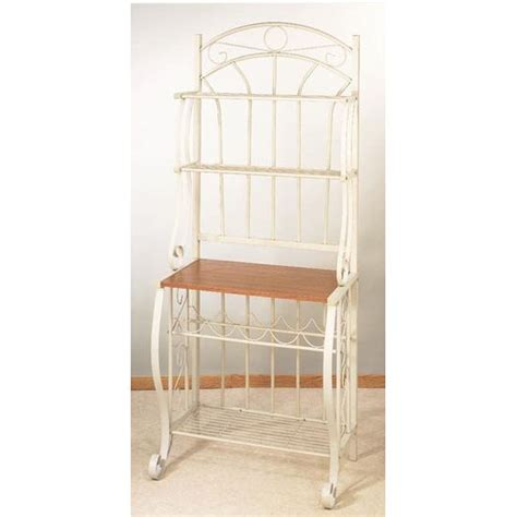 bakers rack scroll linen white bakers rack by old dutch