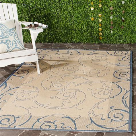 Outdoor Patio Rugs 9 X 12 Safavieh Courtyard Blue 9 Ft X 12 Ft Indoor Outdoor Area Rug Cy2665 3101 9 The Home