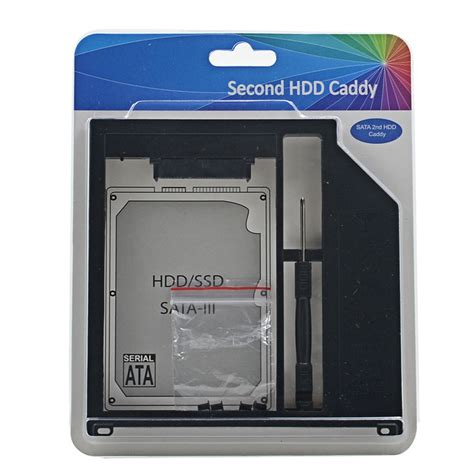 Caddy Macbook Pro 13 15 17 Superdrive Ssd Hdd Caddy 95mm 1 original retail package sata 3 0 2nd hdd caddy 9 5mm ssd enclosure for apple macbook pro