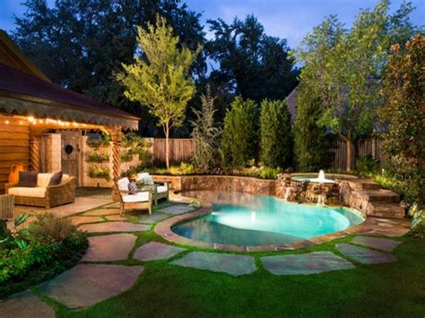 Swimming Pool In Backyard Small Backyard Pool Small Backyard Makeover With Pool