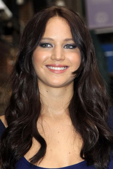 celebrity hairstyles jennifer lawrence black hair