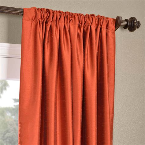 orange faux silk curtains buy blood orange yarn dyed faux dupioni silk curtains
