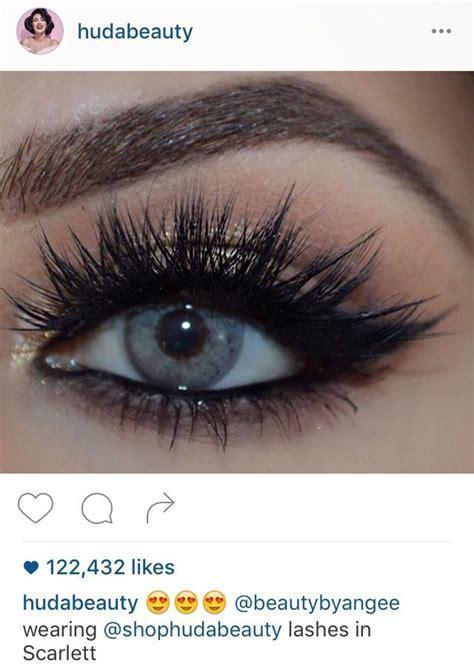 Huda Beauty 'Scarlett' lashes   I want   Beauty makeup
