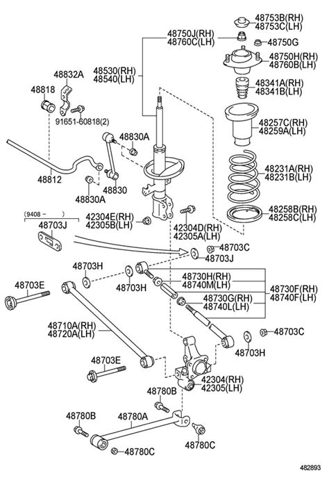 Toyota Camry Parts Diagram 95 Camry Parts Auto Parts Diagrams