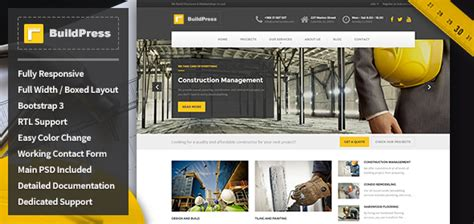 free html construction page template buildpress construction business html template by