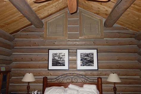 Log Cabin Shutters by Rustic Log Cabin With Wood Window Shutters Rustic