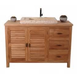 meuble salle de bain 1 teck de java lifestyle