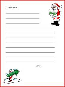 Santa Claus Letter Template by Dear Santa Letter Template Letter Tips