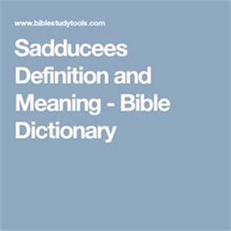 Sadducees bible definition of marriage