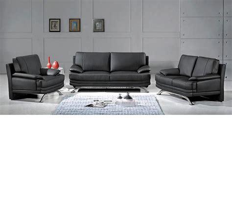 dreamfurniture 9250 modern black sofa set