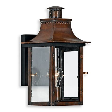 Outdoor Copper Light Fixtures Buy Quoizel 174 Chalmers 1 Light Outdoor Light Fixture In Aged Copper From Bed Bath Beyond