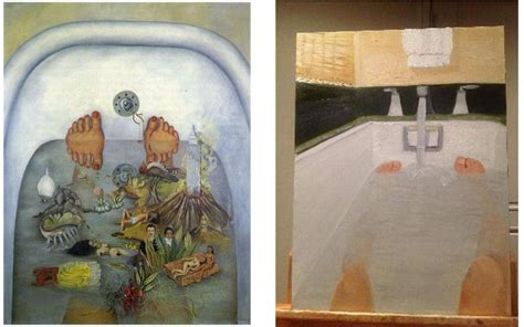 george w bush bathtub painting who wore it better le site qui compare des oeuvres