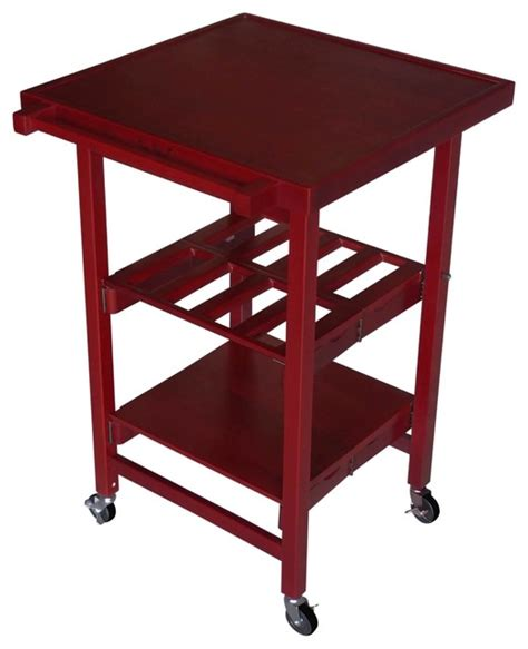 Oasis Island Kitchen Cart Oasis Concepts The Entertainer Ii All Wood Folding Kitchen Island Cherry Contemporary