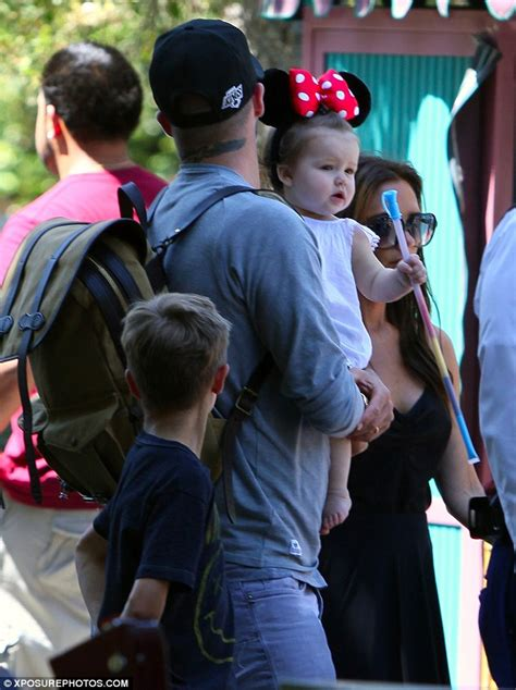 Beckhams Hit Disneyland by Beckham Is As A Mouse In Minnie Ears With
