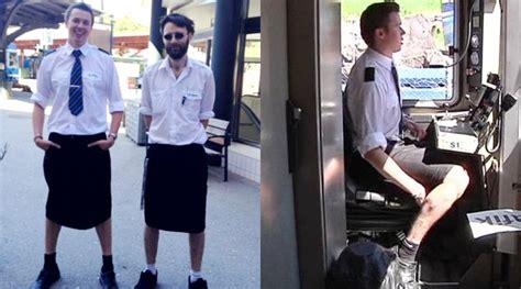 Celana Pendek Casual Musim Panas Panjang Selutut Dengan Lubang dilarang kerja pakai celana pendek masinis di swedia kenakan rok kabar berita artikel