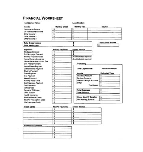 Accounting Spreadsheet Template 7 Free Excel Pdf Documents Download Free Premium Templates Financial Worksheet Template