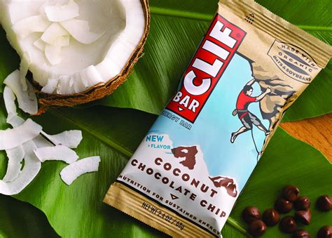 top selling energy bars new clif bar coconut chocolate chip flavor now available nationwide mtbr com
