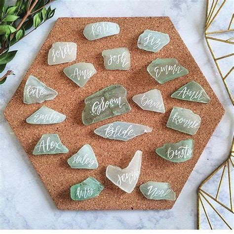 Glasses Com Gift Card - wedding theme custom sea glass place cards for sara 2551947 weddbook