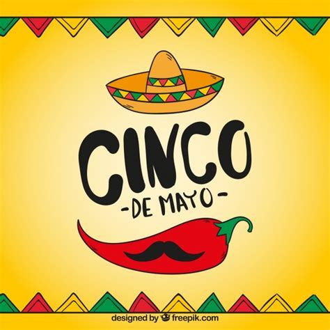 cinco de mayo background cinco de mayo background with traditional elements vector