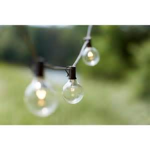 Patio String Lights Home Depot 10 Light Outdoor Clear Hanging Garden String Light Kf19001 The Home Depot