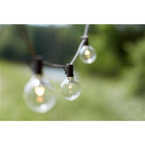 Patio Lights Home Depot 10 Light Outdoor Clear Hanging Garden String Light Kf19001 The Home Depot