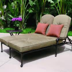 Chaise For Two Darlee Elisabeth 2 Piece Cast Aluminum Patio Double Chaise