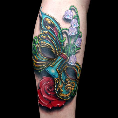 masquerade tattoo masquerade mask by cleen rock one ink master