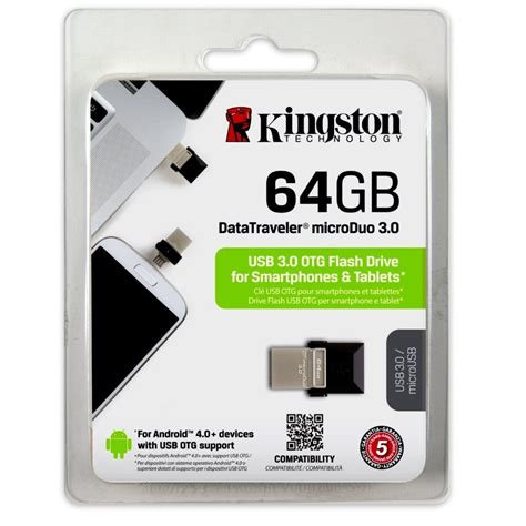 Kingston Datatraveler Microduo Usb 30 Micro Usb Otg 32gb Dtduo33 1 kingston datatraveler microduo usb 3 0 micro usb otg 64gb