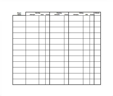 Free Hockey Stat Sheet Template