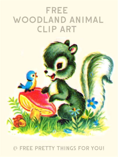 clipart free images images free vintage woodland animal clip free