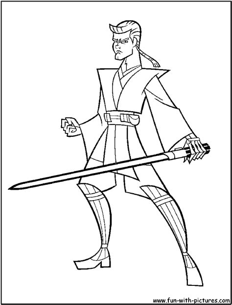 coloring pages anakin skywalker wars anakin vs obi wan coloring pages sketch coloring
