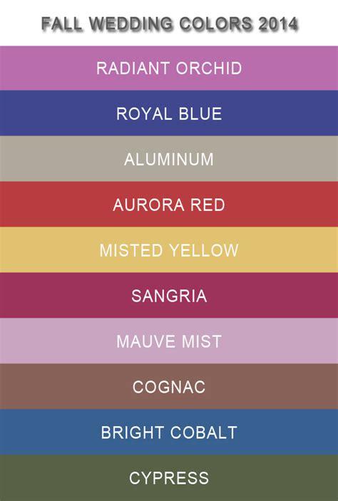 top 10 pantone fall wedding colors 2014 trends