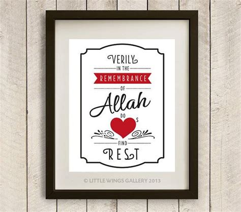 printable islamic quotes digital download quot remembrance of allah quot quran quote pop