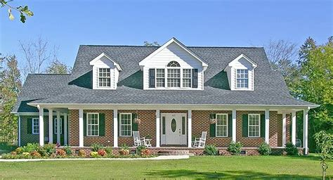 brick farmhouse plans sanford 1583 5 bedrooms and 3 baths the house designers