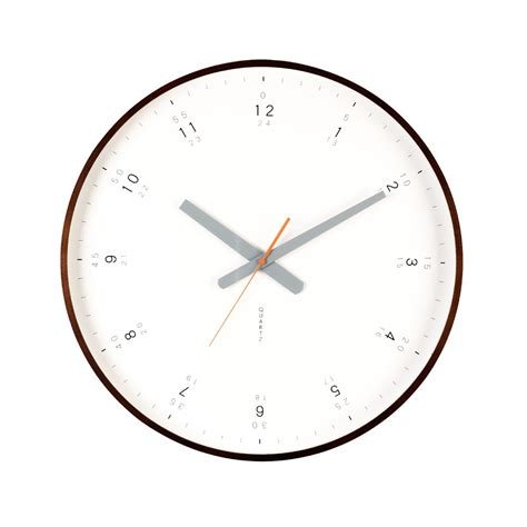 wall clock modern buy modern walnut wall clock online purely wall clocks