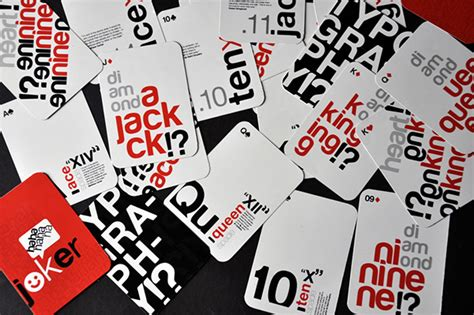 typography playing cards on behance