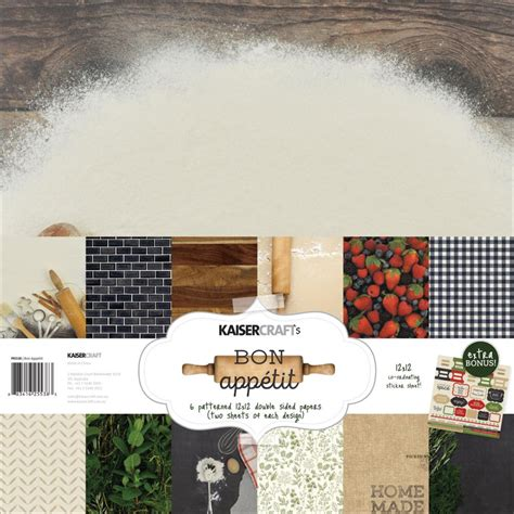 bon appetit kitchen collection kaisercraft scrapbooking paper collections sts ink