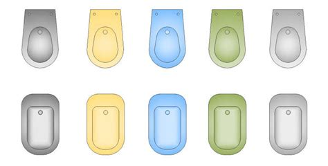 bidet cad block cad blocks color furniture sanitary bidets