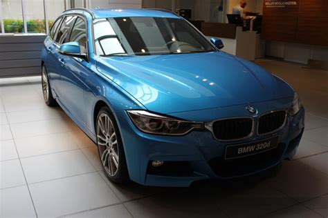 bmw 320d blue colour bmw f31 3 series touring in individual kingfisher blue color