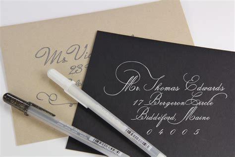 Hand Calligraphy Addressed Wedding Envelopes   LCI Paper