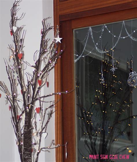 cardboard mountain christmas decorations paintsewgluechew